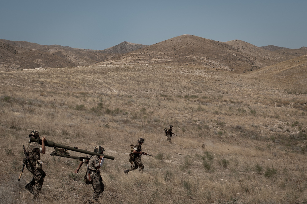 Conscripts during a missile launching exersize in Southern Nagorno Karabakh.