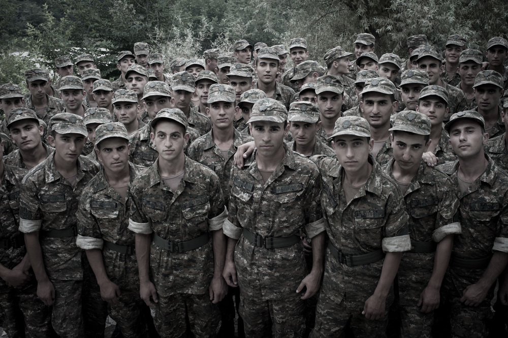 Conscripts at the Yeghnikner military base, Nagorno-Karabakh.