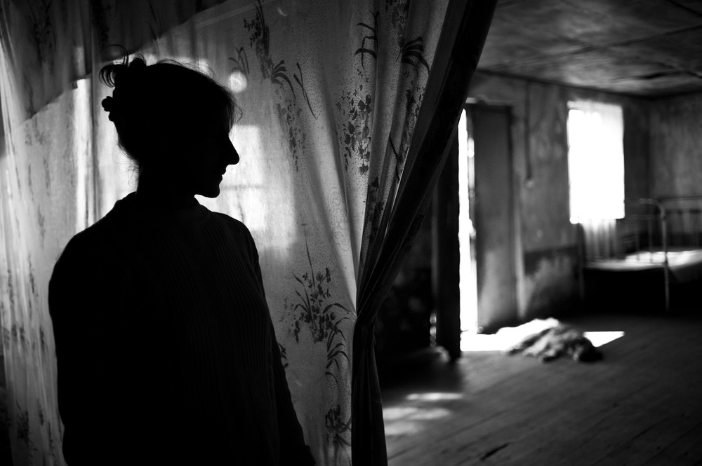 In Tretuk village, this abandoned home of an Azerbaijani family has been inhabited by Grisha, his wife, and their 7 children since they moved to Armenia from Kirovabad. Grisha cannot find a job, the family lives on government subsidies.