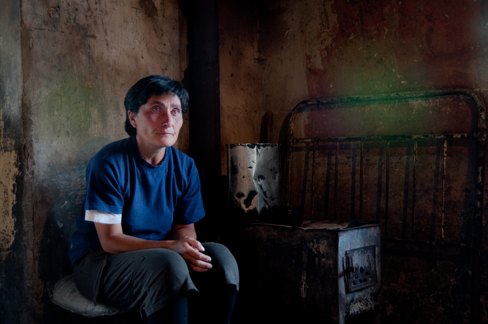 Nune lives with her 3 children in a run down house in Getap village. Her husband left for Russia and did not return. Her eldest son Vova (16) has not attended school in over 2 years because he is the family's primary breadwinner.