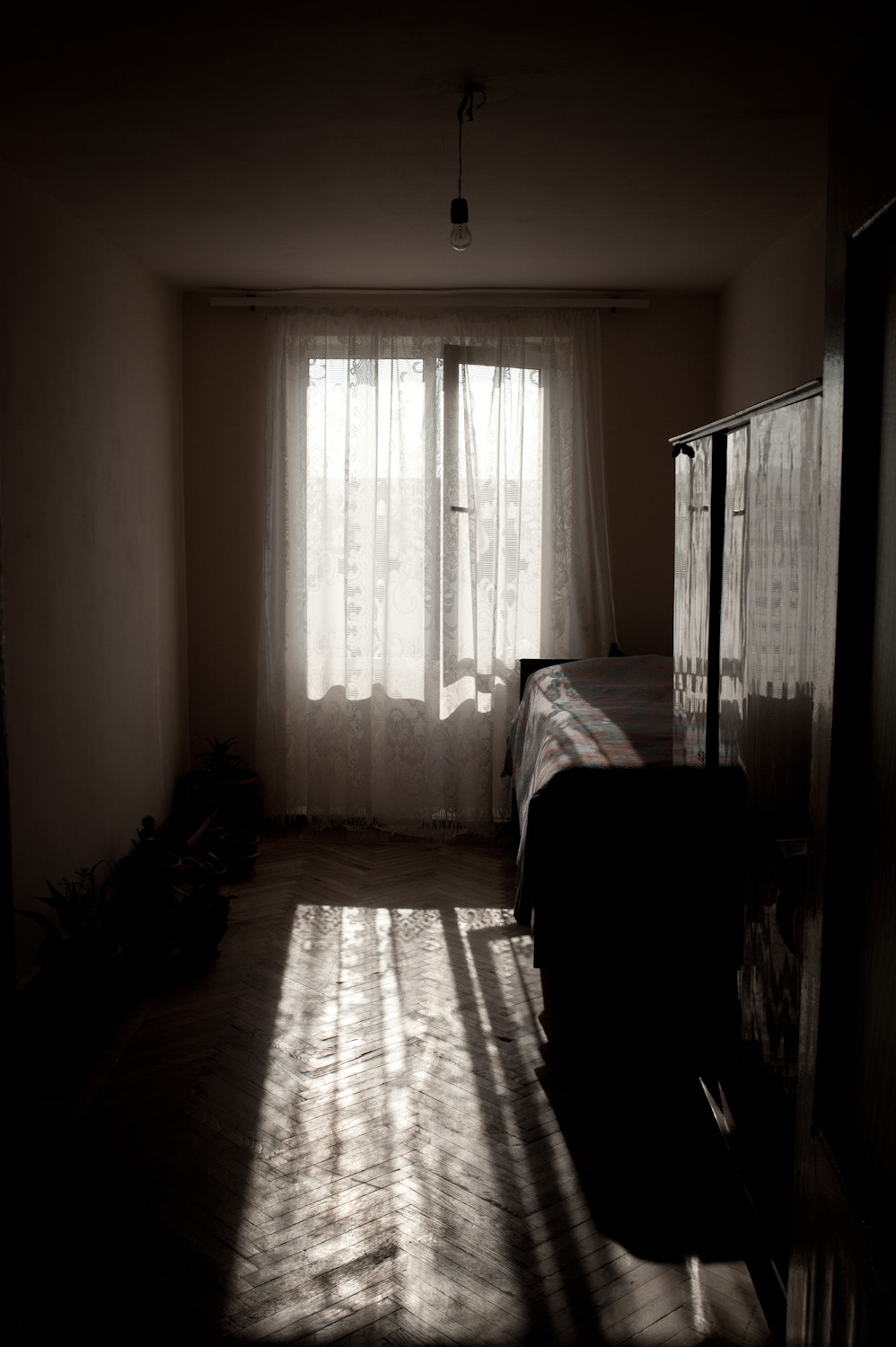 "Tigran's bedroom. Gohar: ""Since we were in Russia, our family members would visit Tigran at the base. On August 22 they noticed once that his eye was bruised and bloodied and that his fists were damaged. Eight days later our son was dead."""