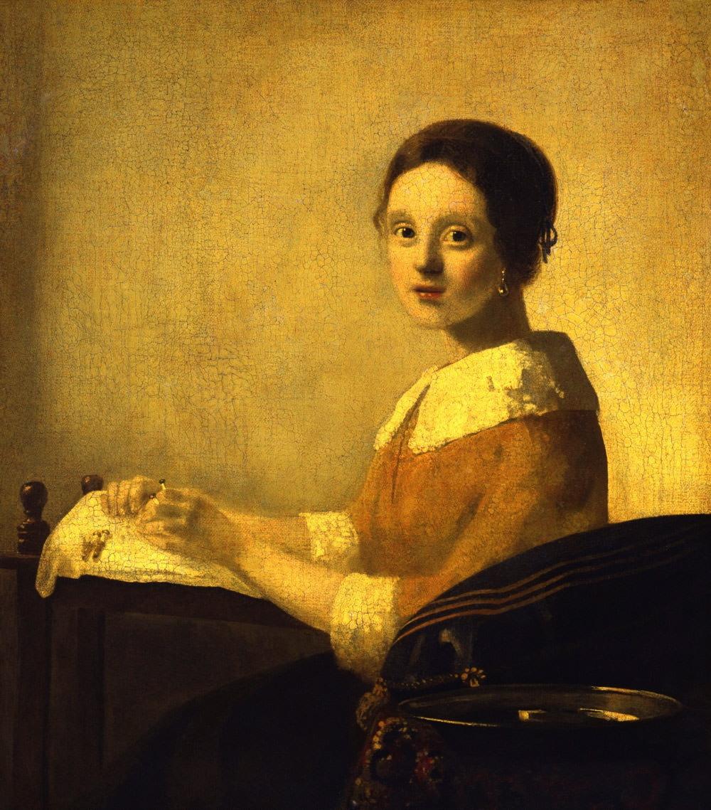 The Lacemaker  Painted c. 1925 by Han van Meegeren, after Vermeer
