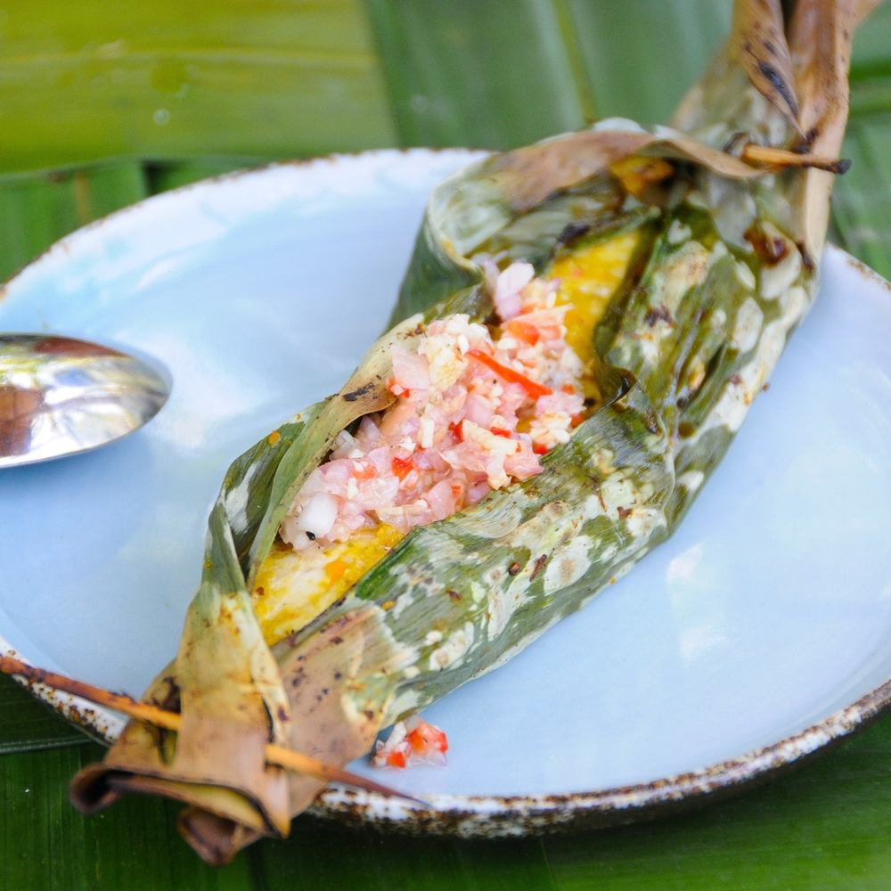 Banana Leaf Fish with Raw Chilli Sambal