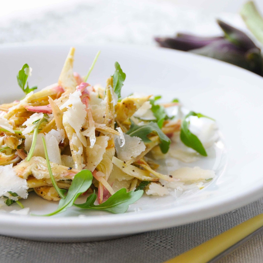 Raw Artichoke Salad with Grana Pandano