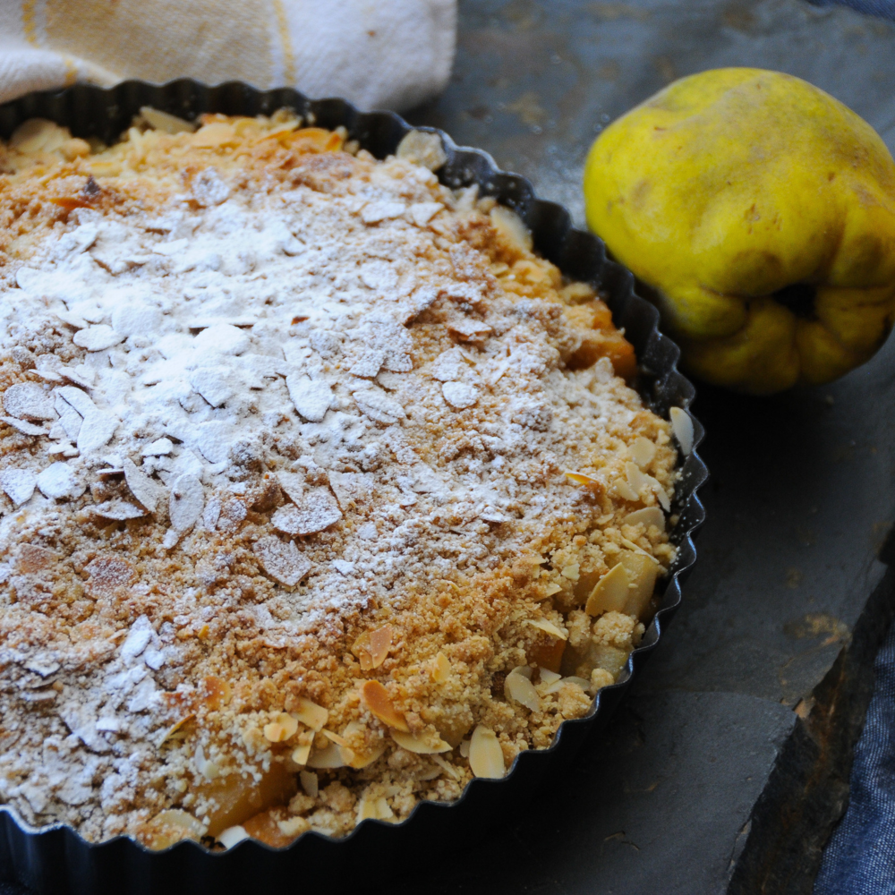 Quince & Ginger Crumble