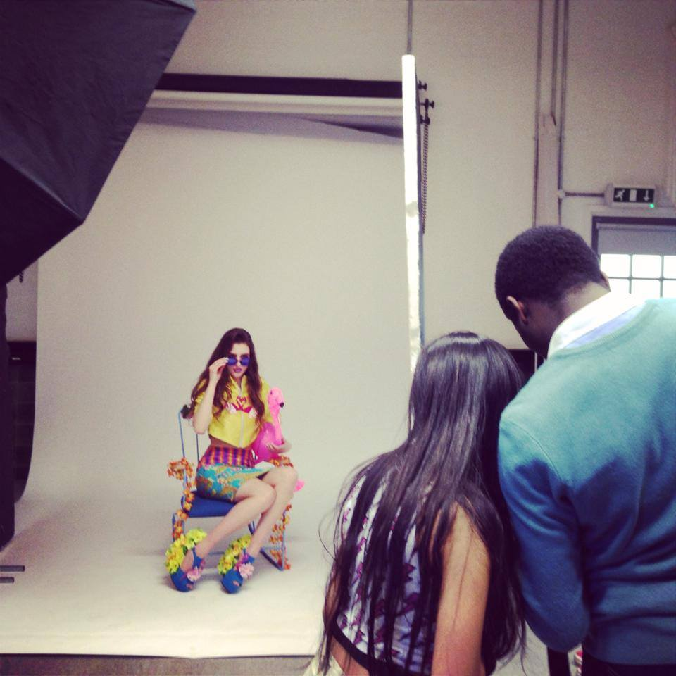 Behind the Scenes of the shoot with the Tropical Dream Team
