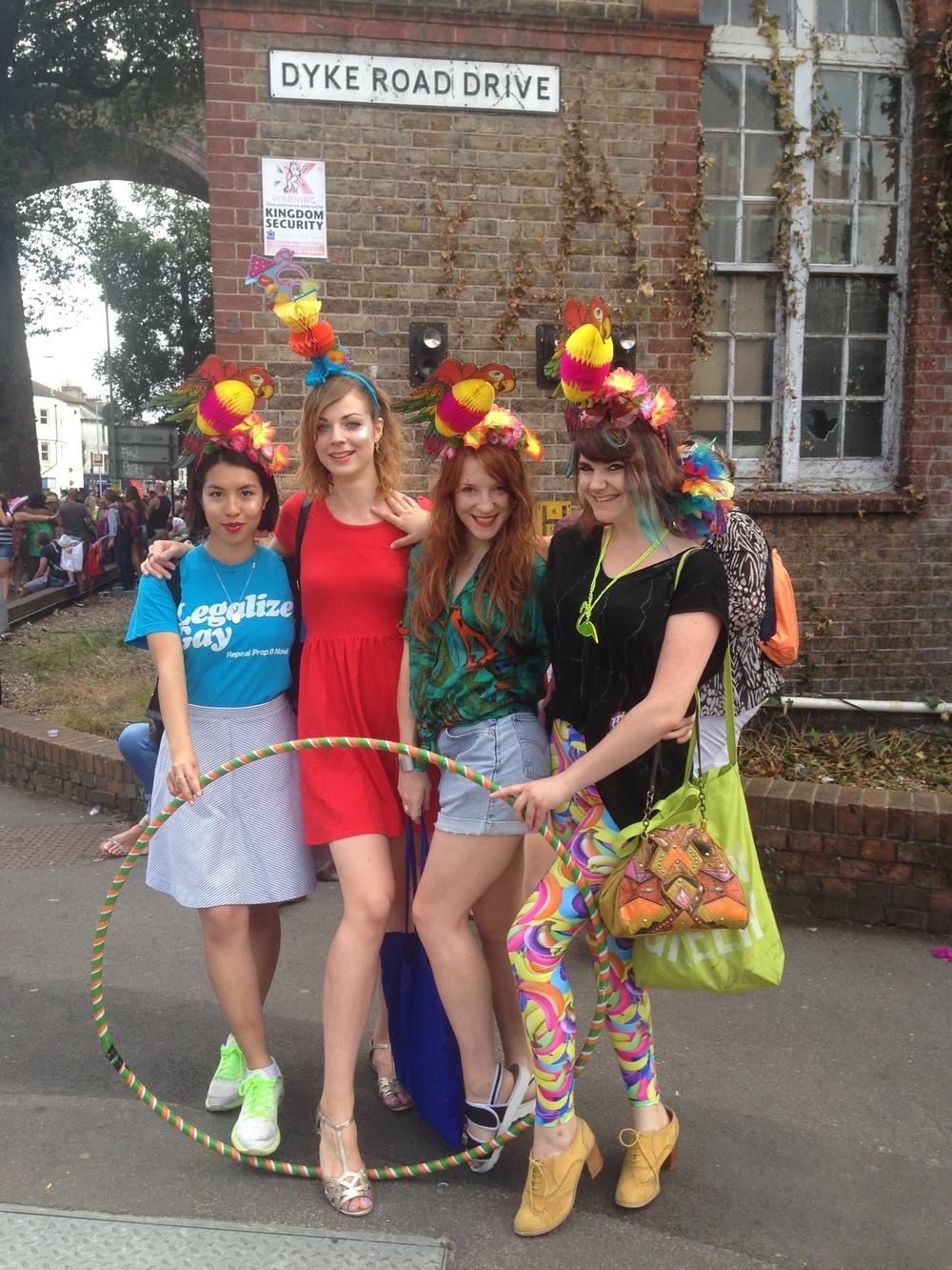 Ciara Monahan Parrots at Brighton Pride 2014