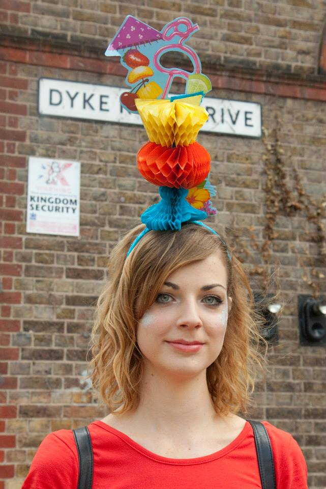 Ciara Monahan Cocktail Headpiece at Brighton Pride 2014