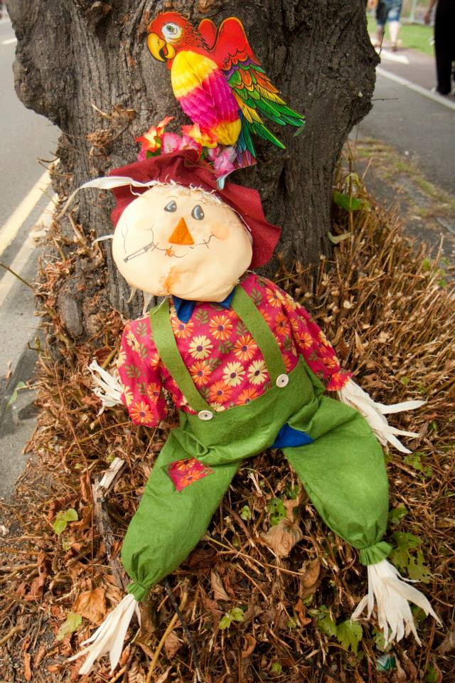 Ciara Monahan Parrot meets Scarecrow at Brighton Pride