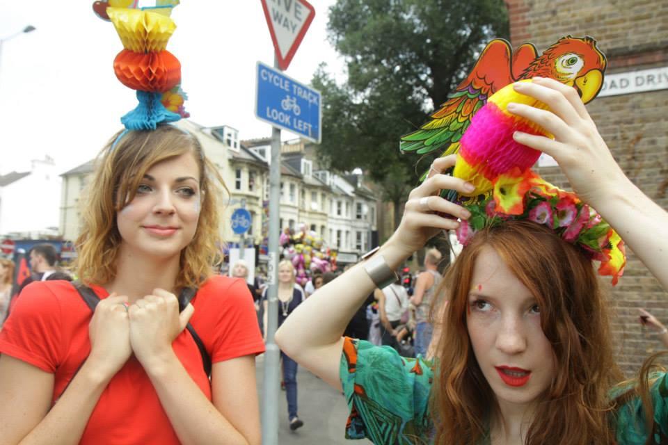 Ciara Monahan Headpieces ar Brighton Pride 2014
