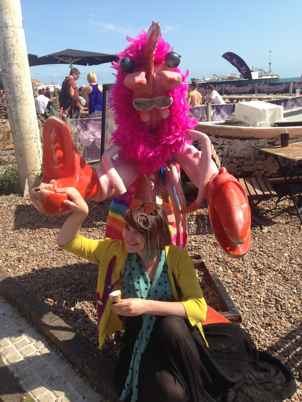 and it wouldn't be Pride without meeting a GIANT camp lobster in the aftermath