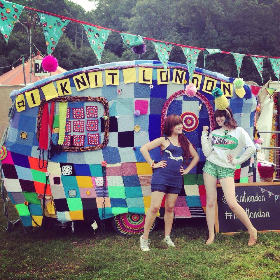 Ciara Monahan with I Knit London at Bestival 2014