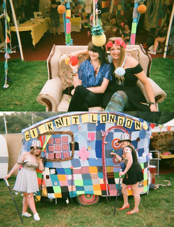Ciara Monahan with I Knit London at Bestival