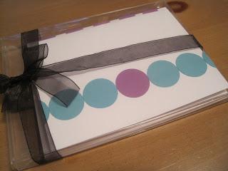 polka dot greeting card