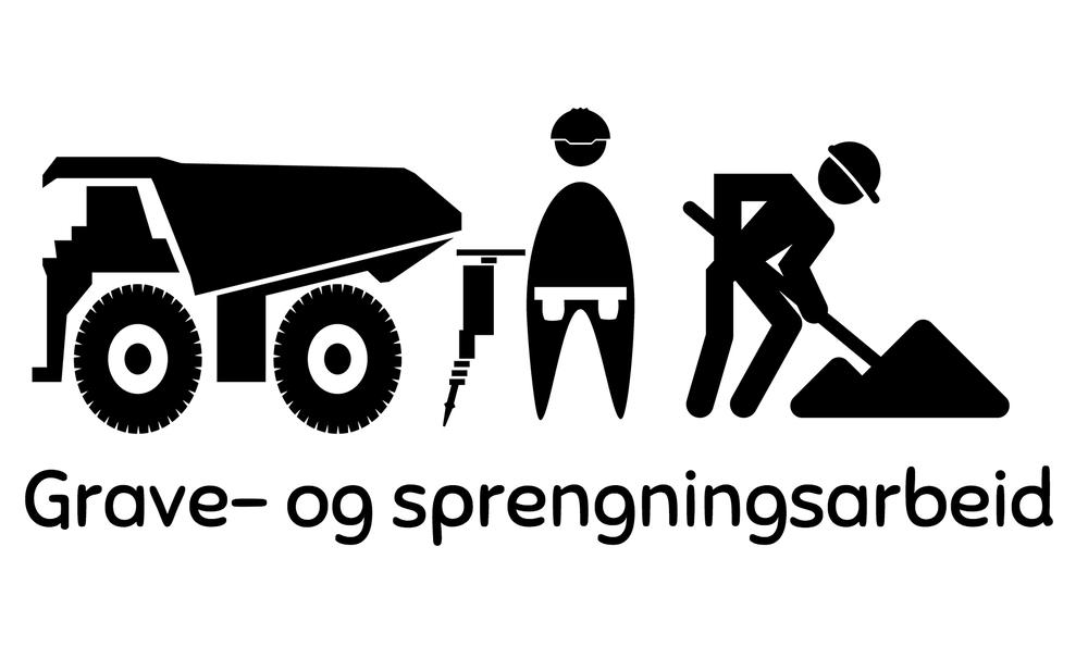 Dramstad Grave sprengning transport grunnarbeid