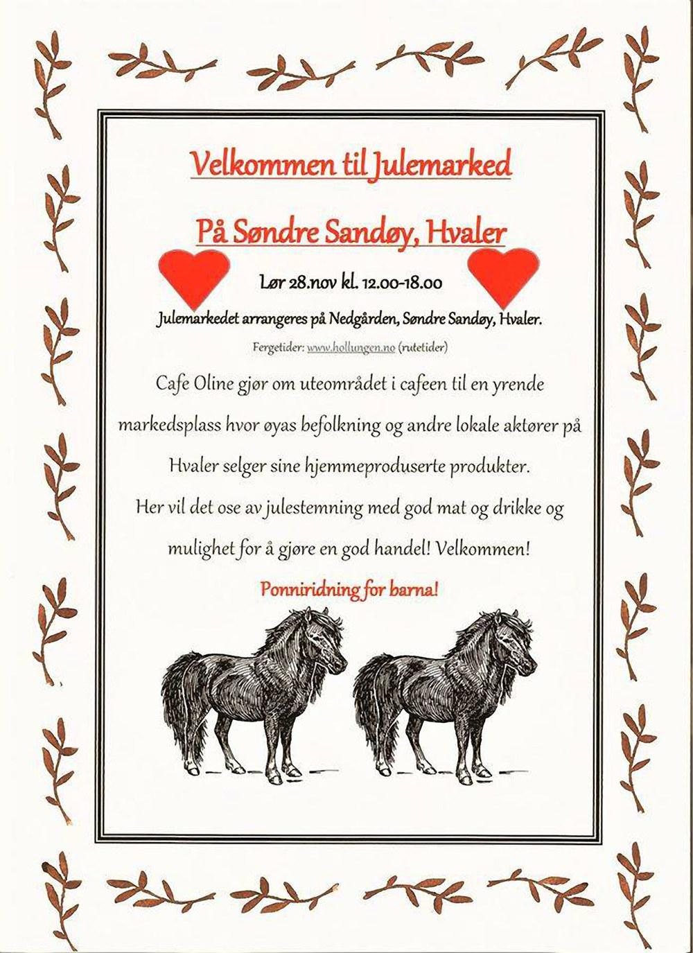 Café Oline har julemarked 28 november 2015 - Søndre Sandøy - Hvaler