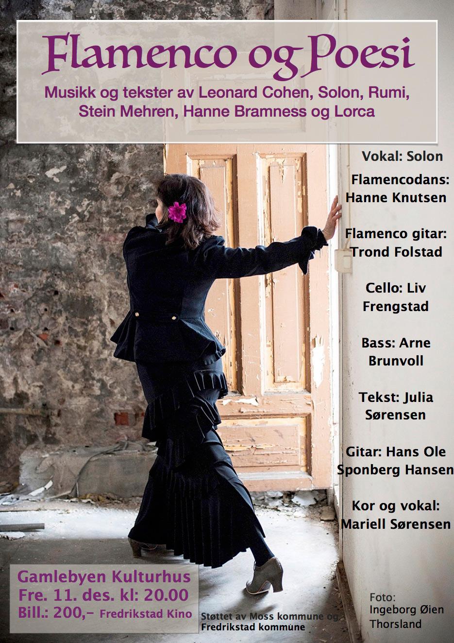 flamenco og poesi - Gamlebyen kulturhus
