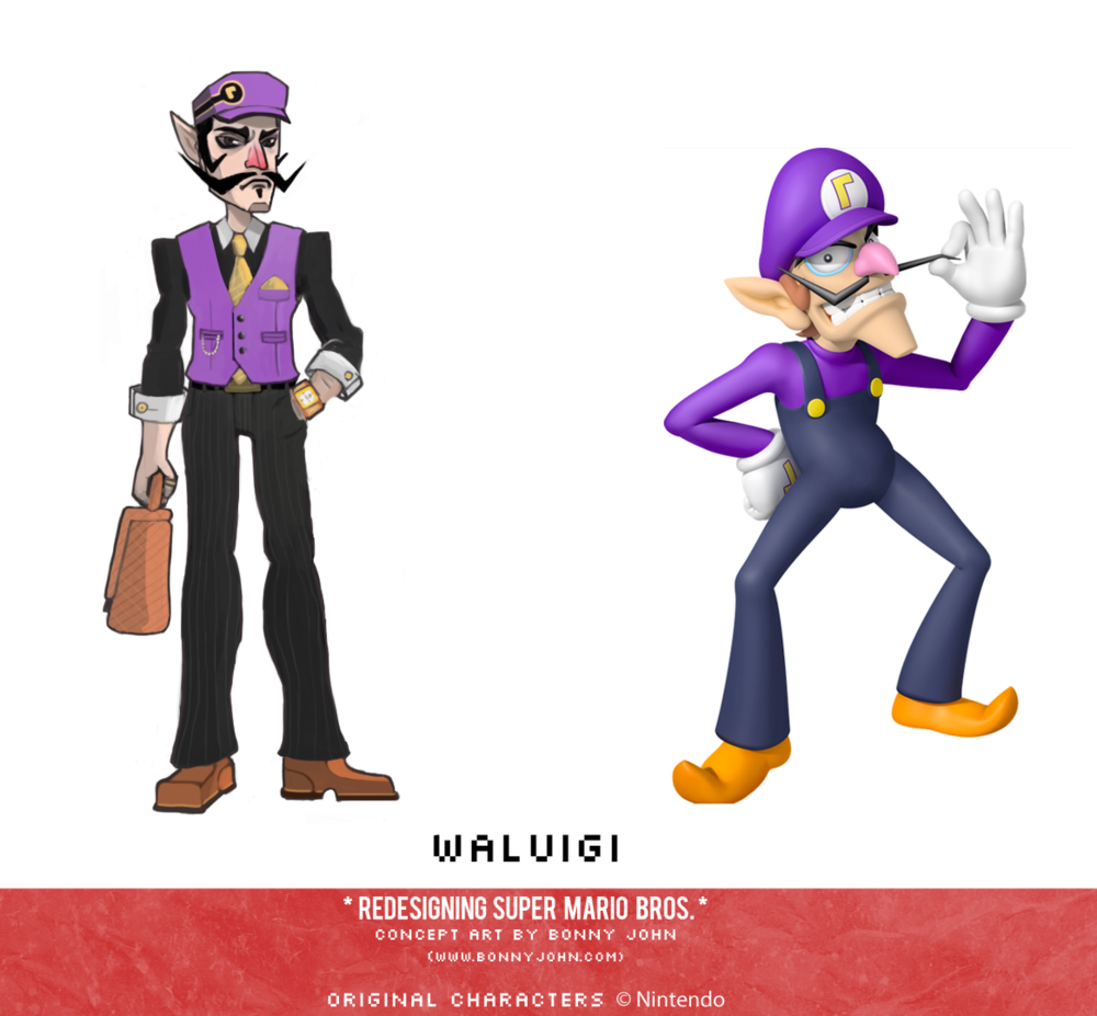 Waluigi Redesign Comparison.png