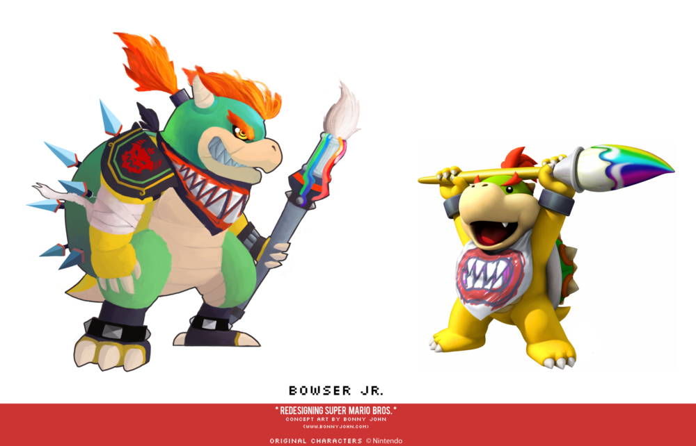 Bowser Jr Redesign Comparison.png