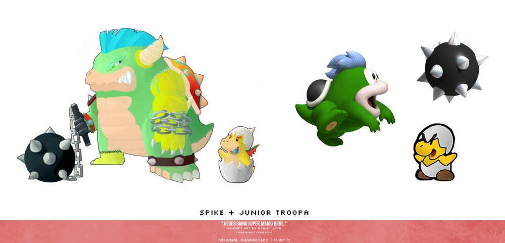 Spike and Junior Troopa Redesign.png