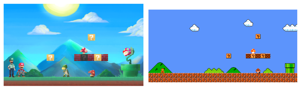 world 1-1 redesign comparison.png
