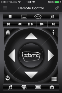 XBMC-Remote Control Screen