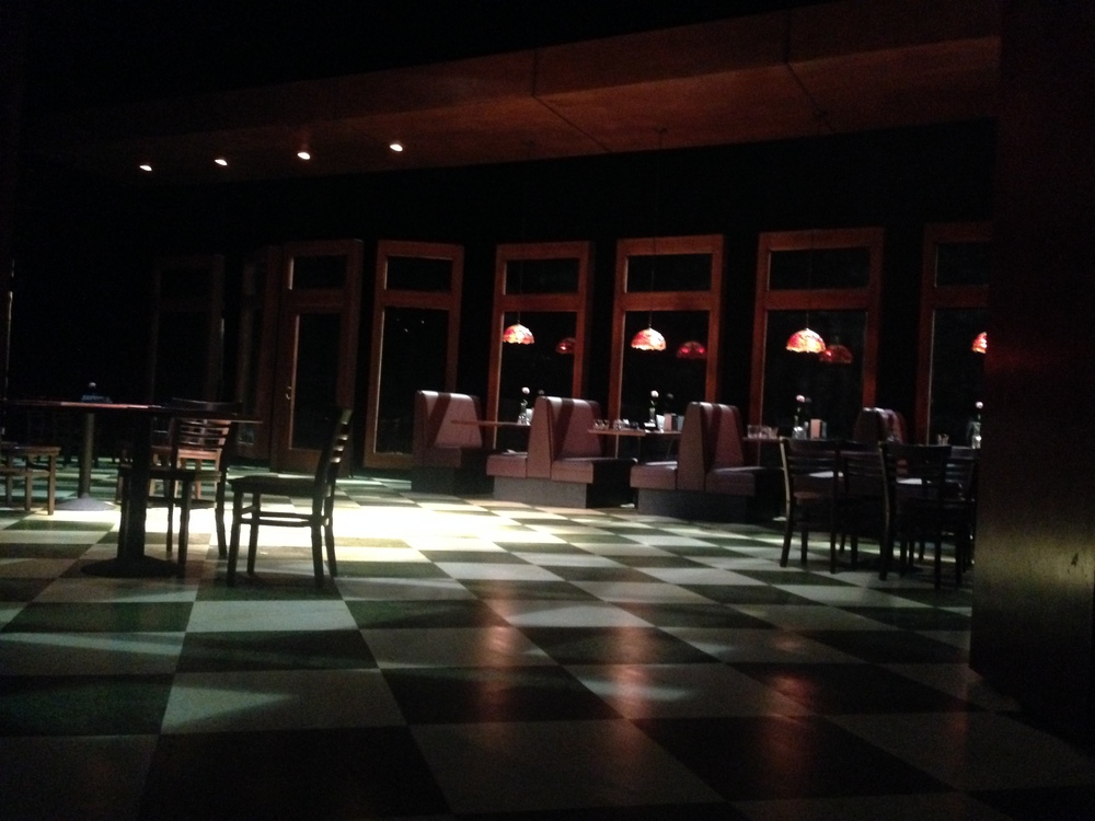 Our gorgeous set from Nina Ball, lights from Kurt Landisman.