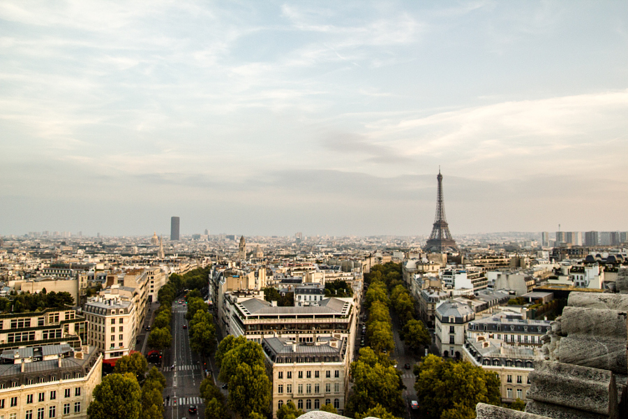 Paris seen from the Arc De Triomphe
