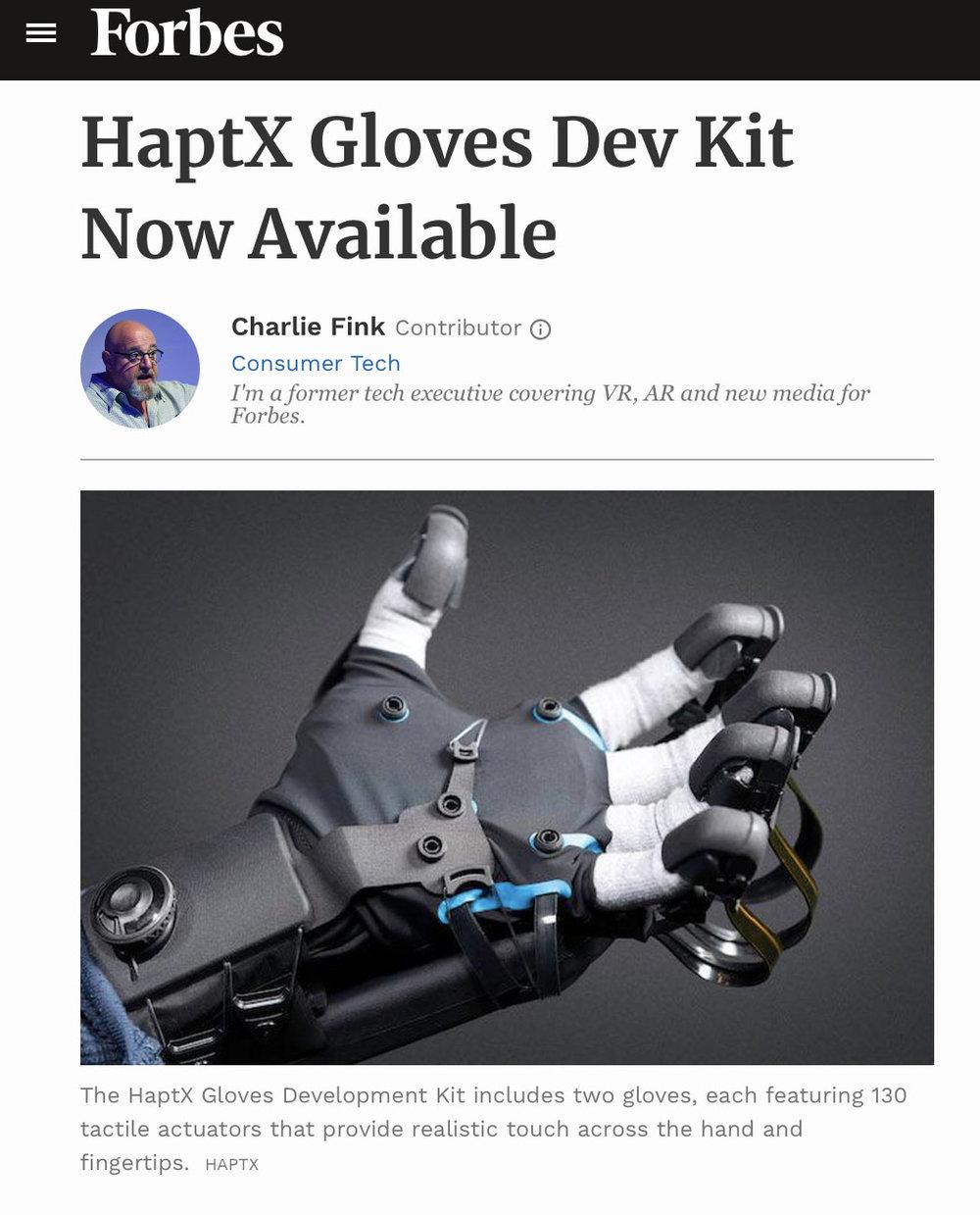 Forbes - HaptX