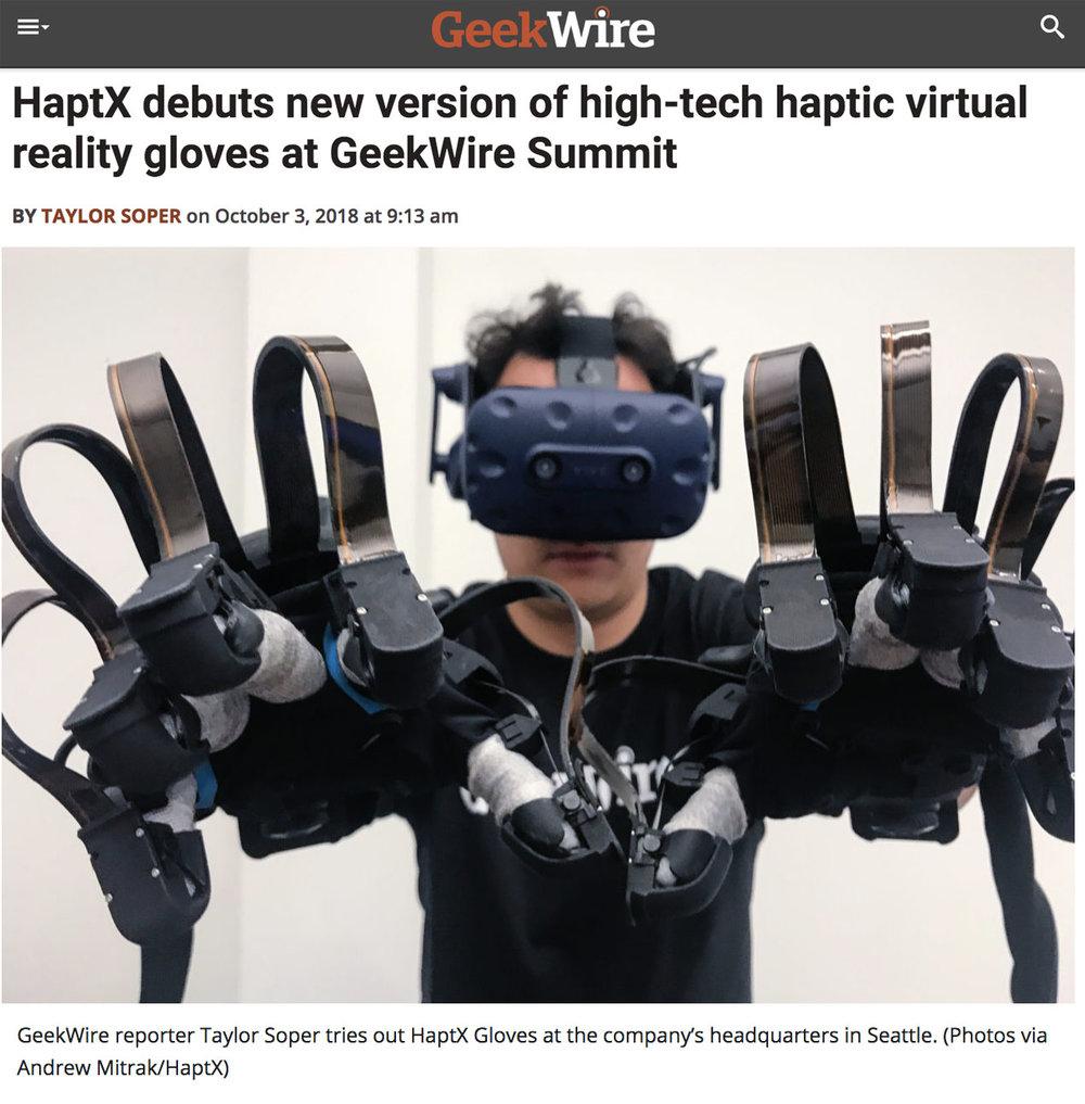 GeekWire - HaptX