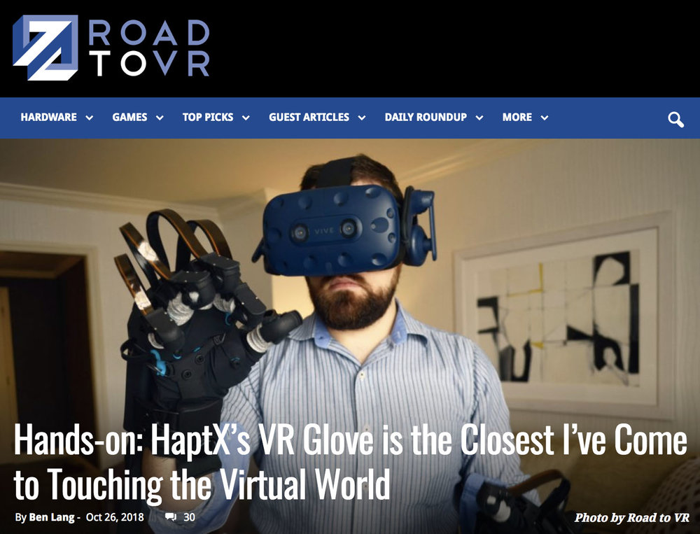 Road to VR - HaptX