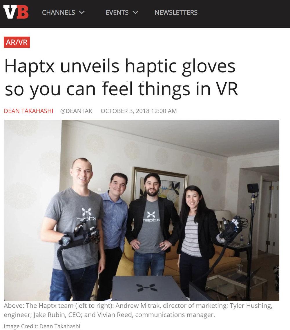VentureBeat - HaptX