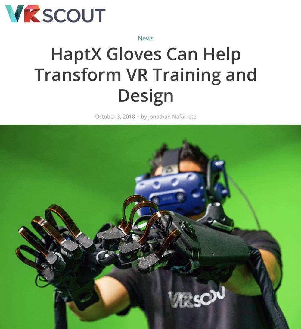 VR Scout - HaptX