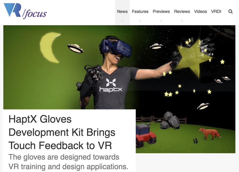 VR Focus - HaptX