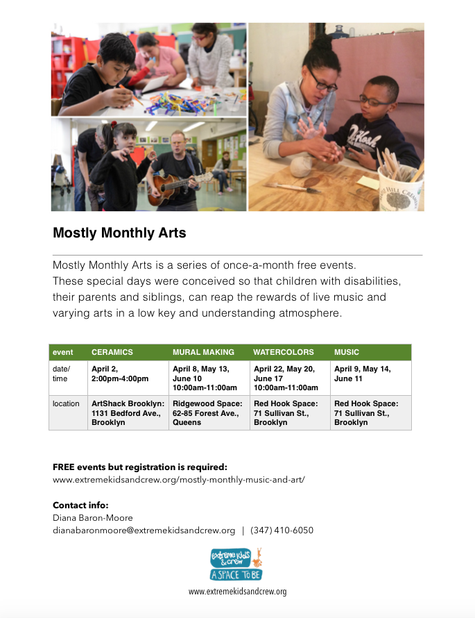 Mostly Monthly Arts Spring 2017