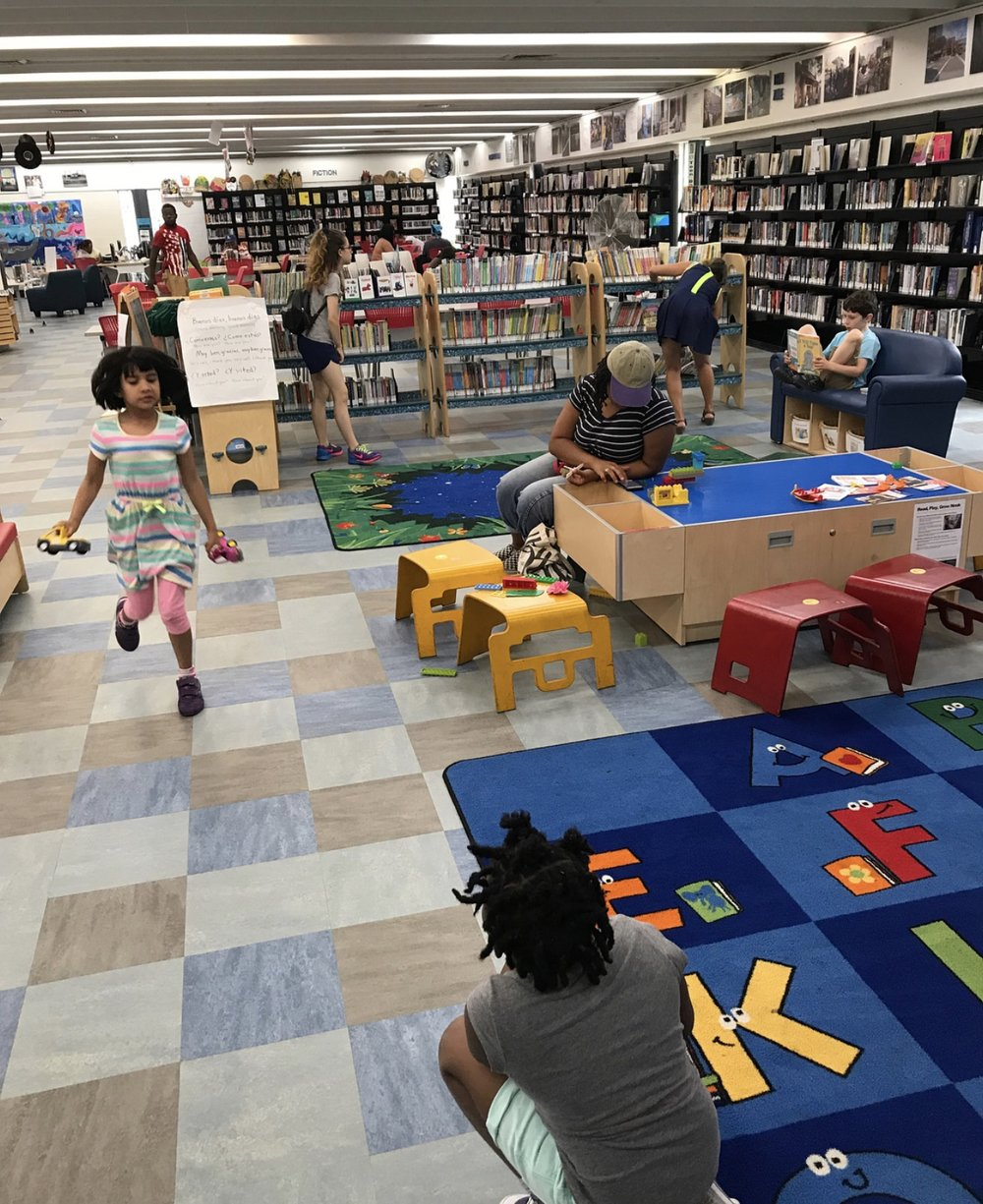 Kids at the library.
