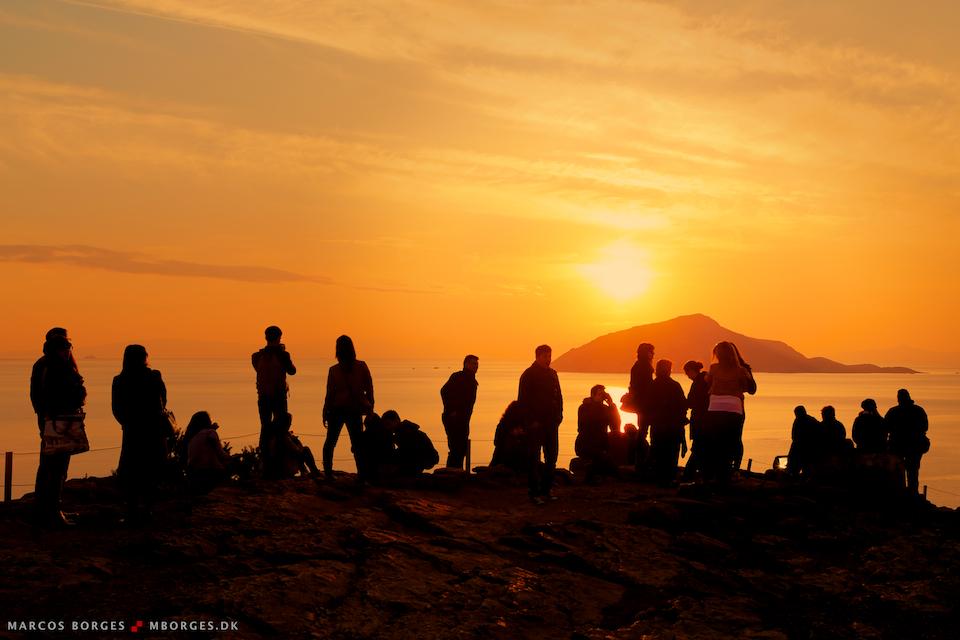 Pôr do sol na Grécia, março de 2013