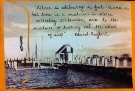 An Edward Hoagland quote made it onto the outside of an envelope