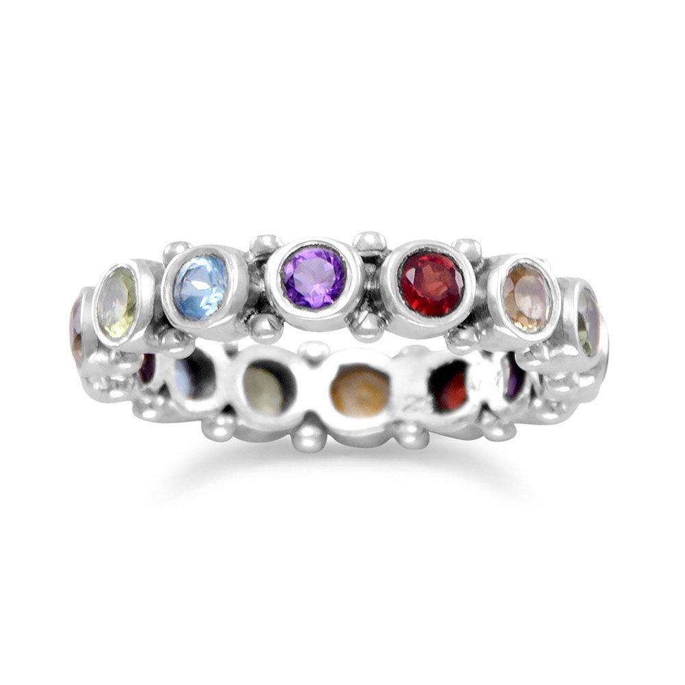 Oxidized Multistone Eternity Ring  $59.00