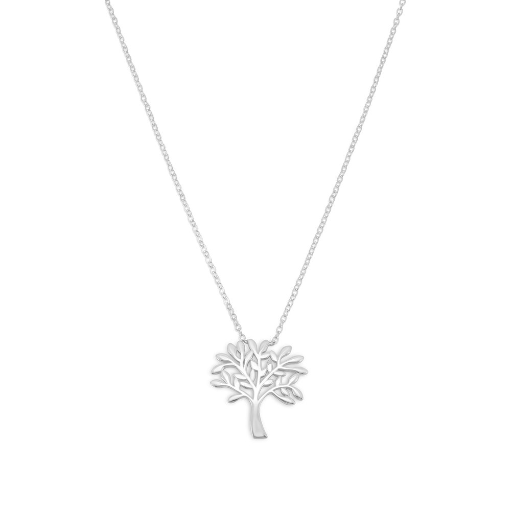 Rhodium Plated Tree Necklace    $36.00