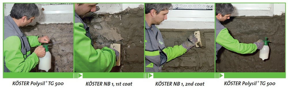 Negative Side Waterproofing - Koster NB1 Grey
