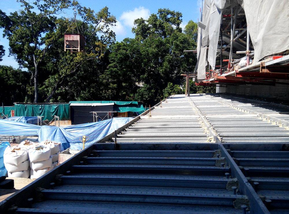 Bondek Steel Decking Site Condition