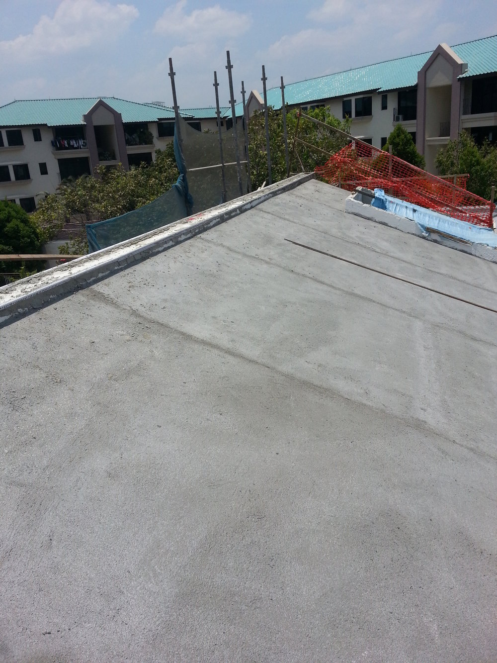 After Cement Sand Screed (Last Layer to Evenly Distribute the Weight Load)