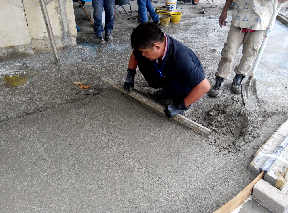 Lightherm Screed is applied to reduce impact sound transmission. Great STC value in commercial projects.