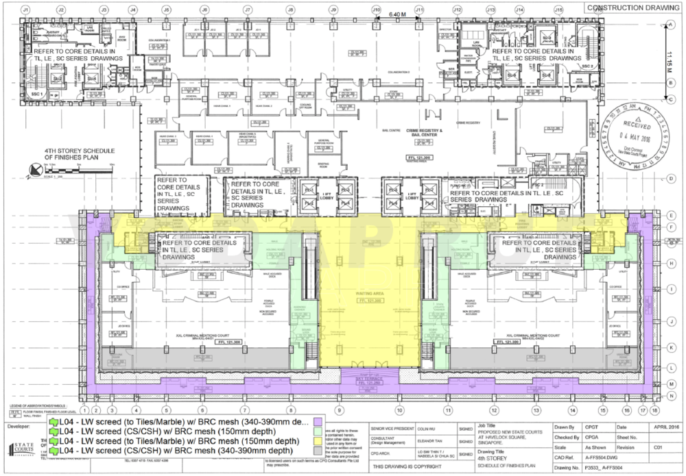 Plan Drawing of Areas of Application