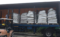 Lightherm Dry Mix is being transported from the factory