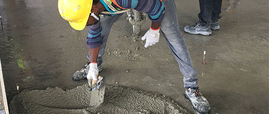 Workers will only need to proper trowel the Lightherm screed