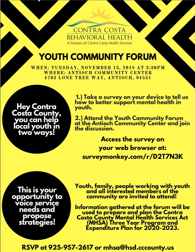 CCBH Youth Community Forum — Scotts Valley Tribal TANF