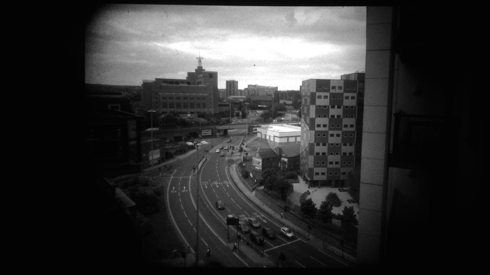Taken through the viewfinder of the OM-1 with an iPhone