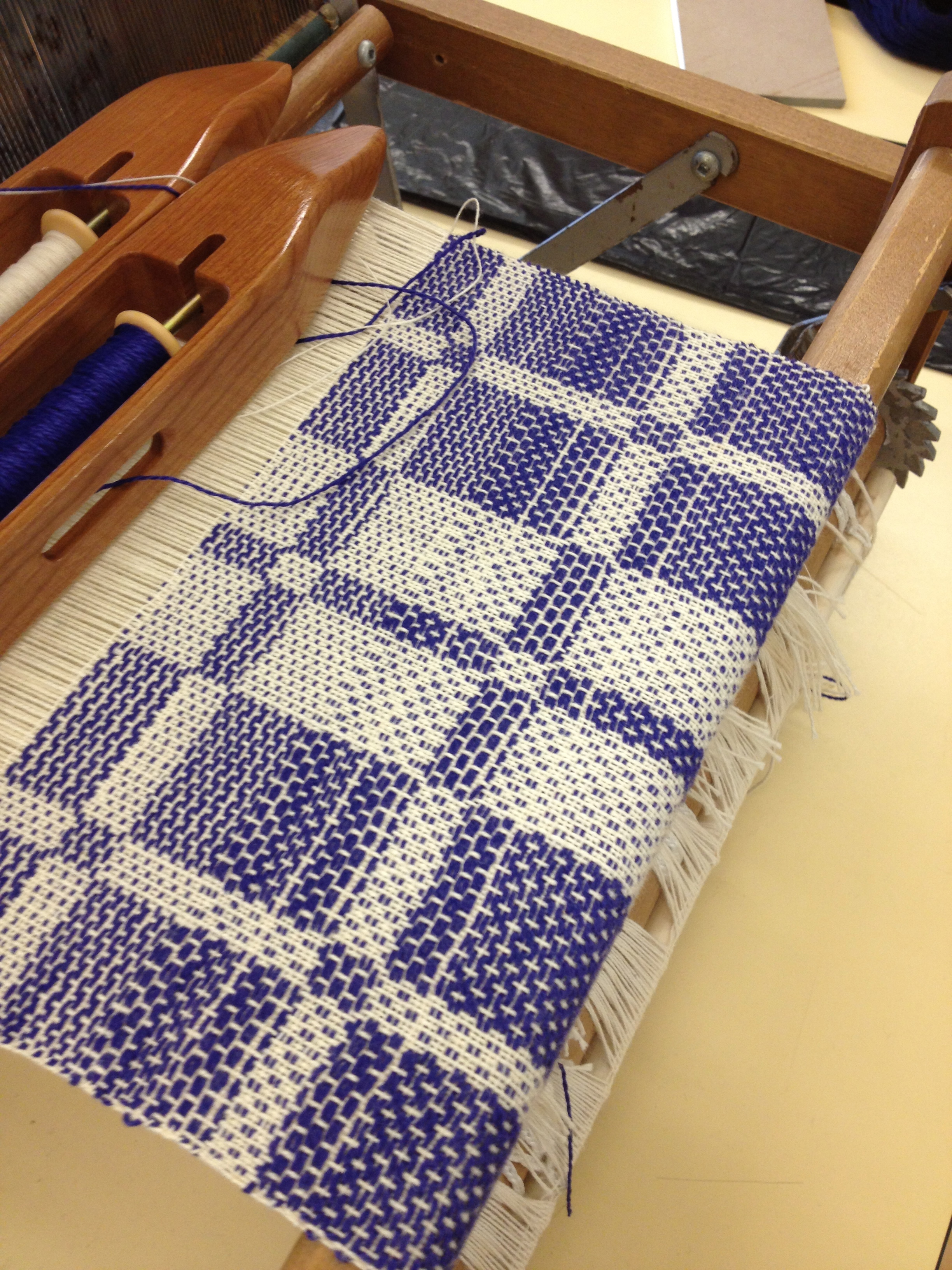 Summer & Winter block weaving from the workshop.